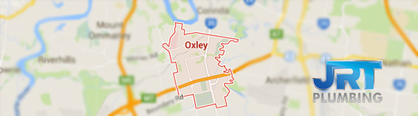 map of plumbing service in Oxley QLD