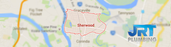 map of plumbing service for Sherwood